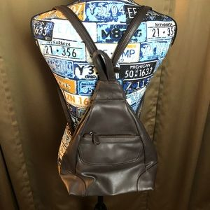 Liz Claiborne Villager Faux Leather Backpack Purse